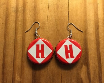 Harpoon Brewery Bottle Cap Earrings