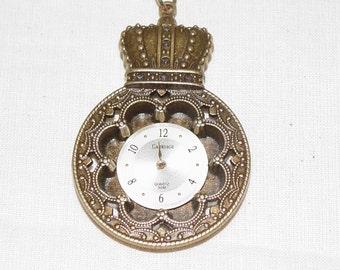 Steampunk Necklace, Clock  Face