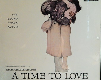 "Time To Love And A Time To Die 12"" Vinyl Lp Mint Original Soundtrack 1976 Limited Japan Reissue (1958 music Miklos Rozsa) John Gavin, Lilo"