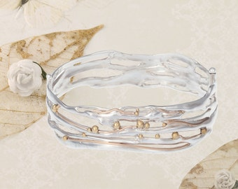 Hinged Organic Bangle