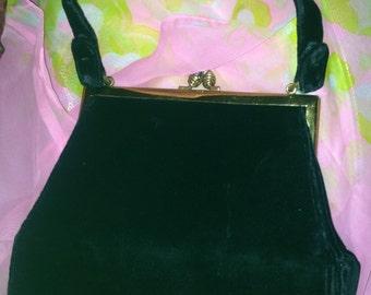 Beautiful Maurice Moskowitz Velvet Handbag