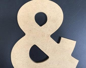 """Wood Symbols - Unfinished - 1/4"""" MDF - Aharoni font"""