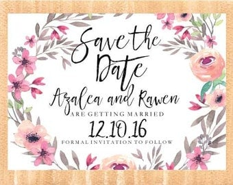 Spring floral   Save the date   Printable