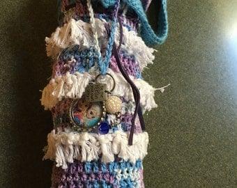 Frozen Crochet Cozie for Thermos Water Bottle
