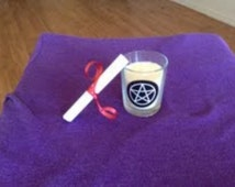 Simple attract money spell candle.  Wiccia, Wish, Pegan, spell kit, money, attraction.