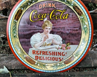 Vintage Metal Platter/Reproduction Celebrating the 75th Anniversary of Coca Cola/#18,697 of 42,000