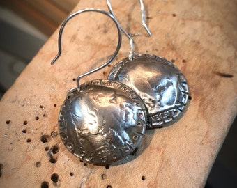 Buffalo Nickle Earrings