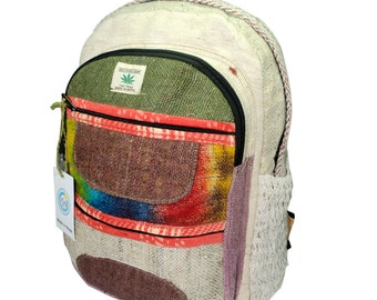Handmade Nepal Hemp and Cotton Backpack