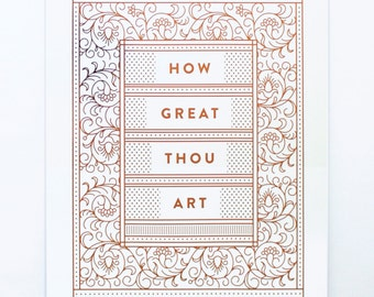 How Great Thou Art - Copper Foil Print