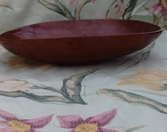 Stylish wooden salad bowl, fruit bowl, bread basket. probably Asian, looks ethnic, vintage