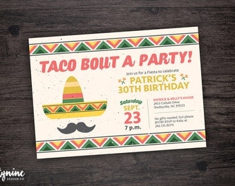 Taco Bout A Party Invitation