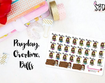 Planner Stickers - Kawaii PAYDAY stickers 011