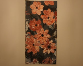 ORIGINAL ABSTRACT PAINTING 40x80cm (15,7x31inch)