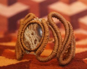 "Bracelet ""Drops"" with stone Jasper Tiger"