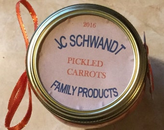 Homemade Canned Pickled Carrots Super Wonderful