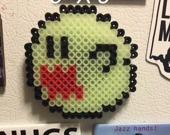 Glow in the dark Boo pixel art sprite magnet
