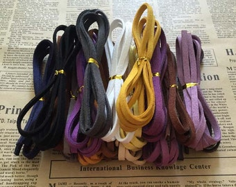 Suede cord, soft suede cord, faux suede cord, 5*1.5mm suede cord, suede cord for jewelry making, necklace cord, bracelet cord, 10meters