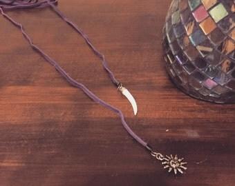 Bolo Wrap Sun Necklace