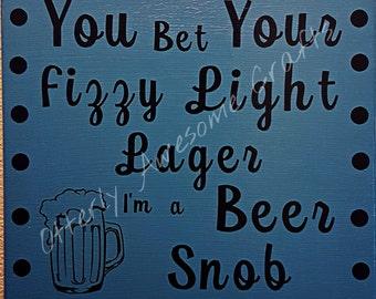 Beer Snob Canvas