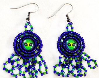 Sci Fi Gift - Alien -  Sci Fi - Earrings