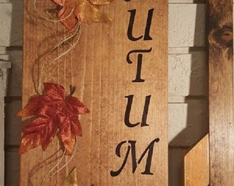 Fall/Autumn home decor sign