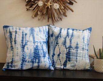 Indigo Shibori Pillow - Hand Dye (Set of 2)