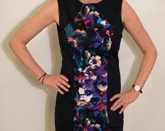 SALE - Bright Floral Panel Dress - Size 12