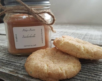 Snickerdoodle Mason Jar Soy Candle - Scented Candle - Housewarming Gift - Snickerdoodle Candle