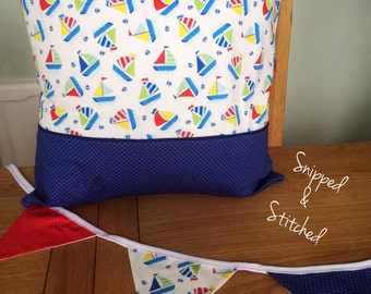 Nautical themed fabric bunting