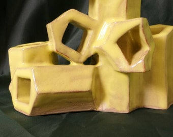 Yellow abstract sculpture