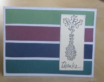 Flower pot Thanks Card