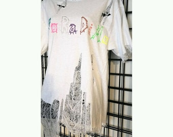 Distressed Cobweb Tee Shirt
