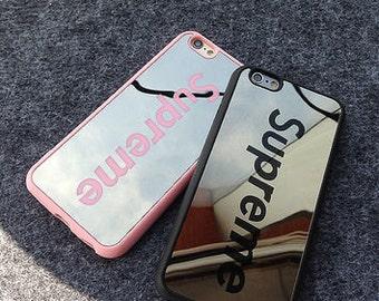 Supreme Black iPhone Case