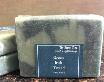 Green Irish Tweed type Soap