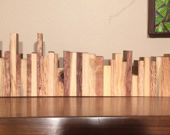 Wood City Scape Art