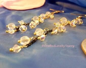 Teardrop crystals earring