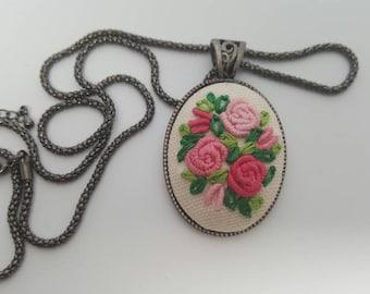 Pink Rose Necklace