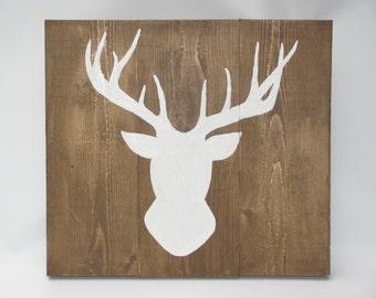 Frame wood recycled deer
