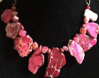 Fuchsia Gemstone Necklace