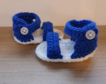 Hand-crocheted Baby Sandals - Newborn or 0-3 Months