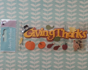 Thanksgiving scrapbook stickers by Jolee's Boutique