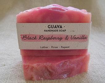 Black Raspberry & Vanilla|Handmade|Cold Process|Natural|Vegan