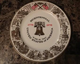 Viletta's Arts Decorative 1776-1976 Bicentennial Plate RARE Vintage Find