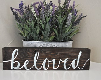 Rustic Reclaimed Wood Sign (Beloved)