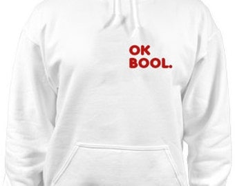 ok bool white hoodie
