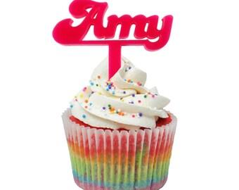 1 x Candice font laser cut cupcake topper
