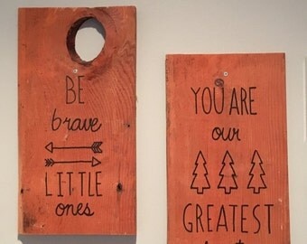 Reclaimed Wood Baby Room Signs