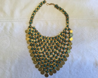 Reproduction of classic Egyptian bib necklace.