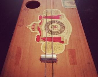 Cigar Box Guitar 2-string chugger