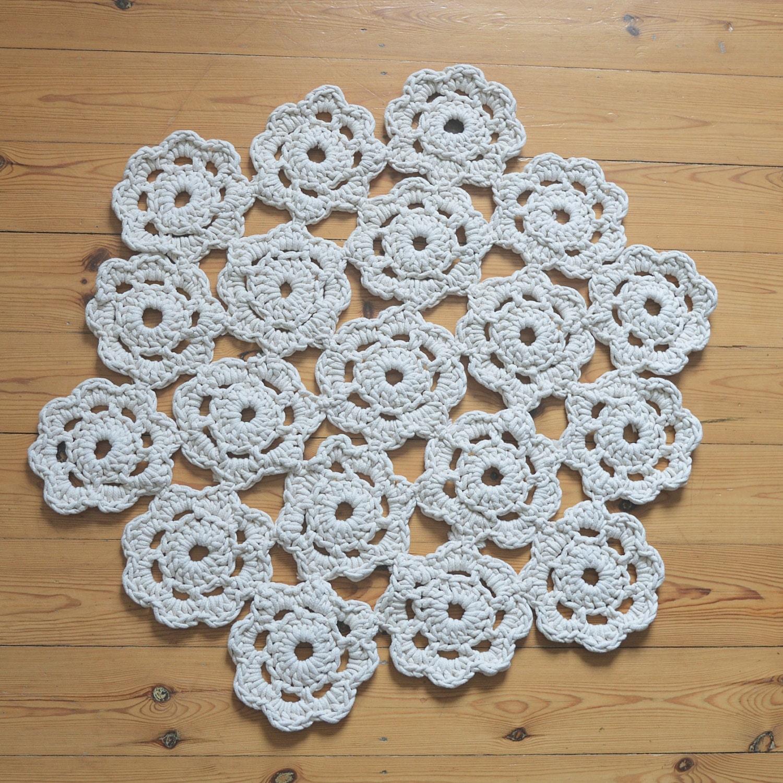 boho teppich doily rug knitware rund klein geh kelt. Black Bedroom Furniture Sets. Home Design Ideas